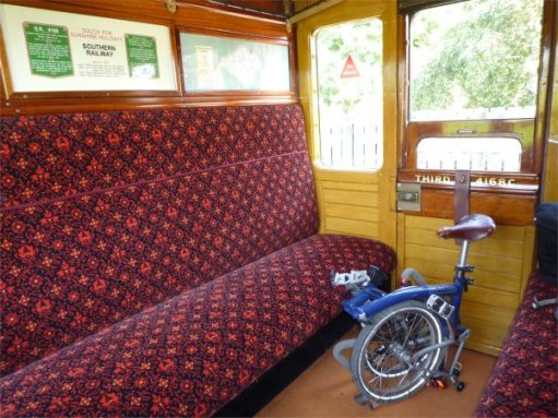 September 2011. Haven Street Steam Railway. Victorian carriage.