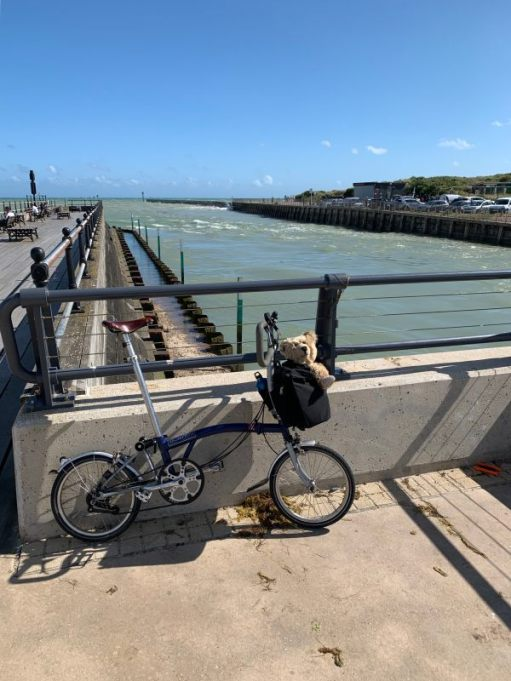 July 2020. Even windier. River Arun, Littlehampton.