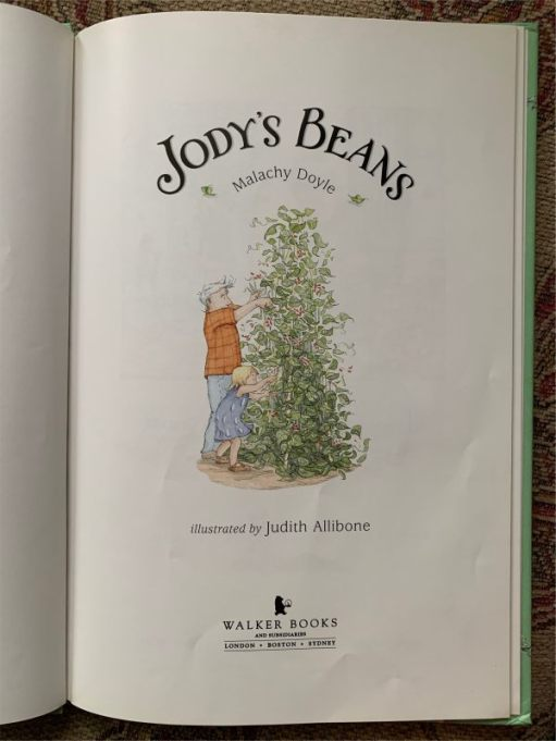 Inside front cover of Jody's Beans.