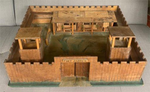 Bobbu's wooden fort.