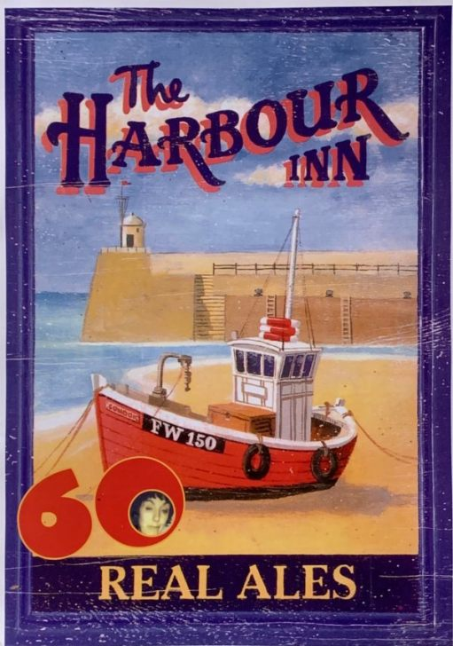 """Poster for """"The Harbour Inn"""" Real Ales."""