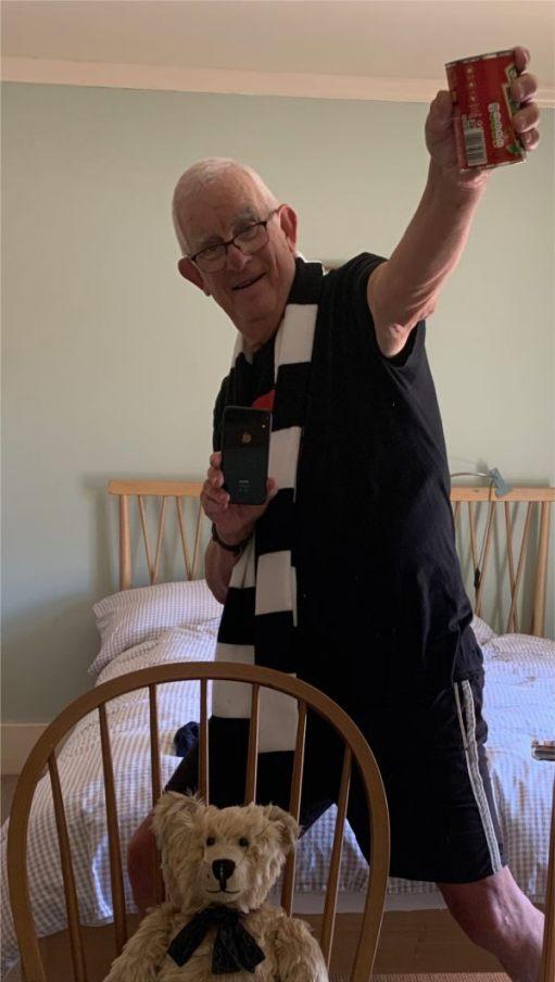 Cardiac Rehab. Zoom gym, celebrating Fulham's return to the Premier League.