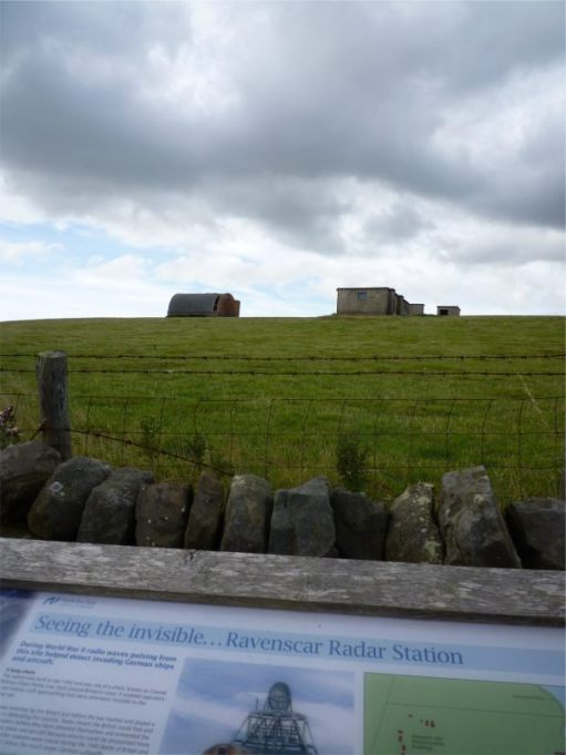 Ravenscar Radar Station alongside the coast path. It is now National Trust. To read more, see below.