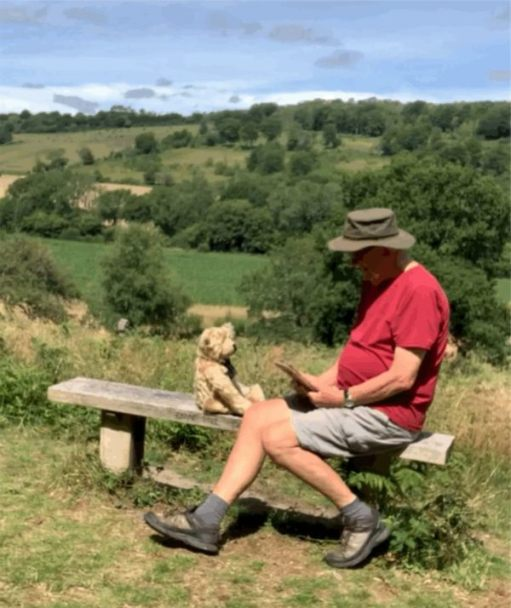 Bertie and Bobby on Diddley's Bench.