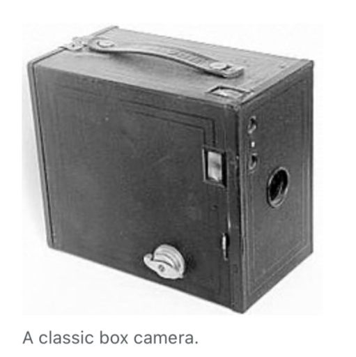 Picture of a classic Box Camera.