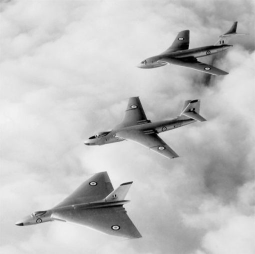 The V bombers… Vulcan, Valiant and Victor.