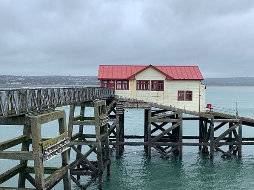 The old lifeboat station, Mumbles Pier.