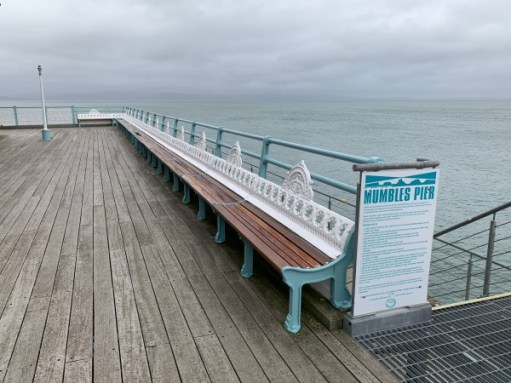 Restored end of Mumbles Pier.