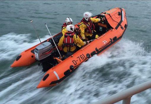 "RNLI D class. Inshore lifeboat ""Mark Lott""."