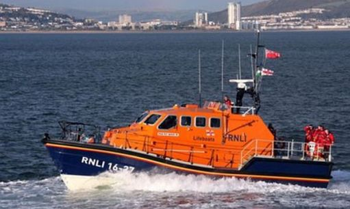 "RNLI all weather lifeboat. Tamar class. ""Roy Barker IV""."
