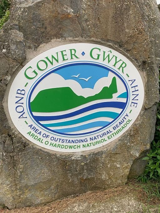 Colourful plaque for the Gower Peninsula - Area of Outstanding Natural Beauty.