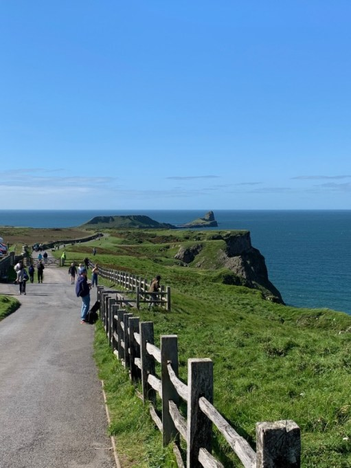 Worms Head Island in the distance.