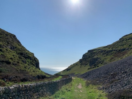 The path down to Mewslade Bay.