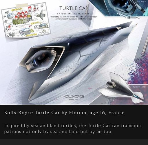 "Rolls-Royce ""Turtle Car"" by Florian, aged 16, France."