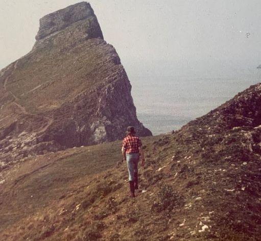 Andrew on Worms Head Island.