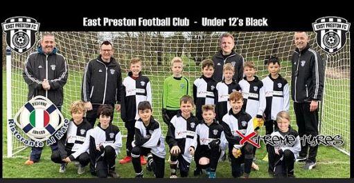 East Preston Under 12s Black - team photo.