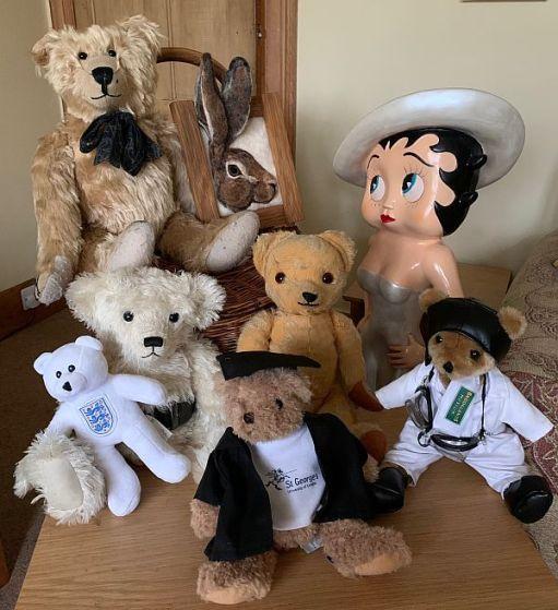 The full team - Bertie, Hefyn, Trevor, Eamonn, Betty Boop, Bobby 2, Ellen, Brooklands Bertie, St George's George.