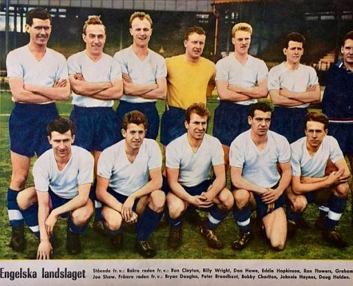 England team photograph with Johnny Haynes.