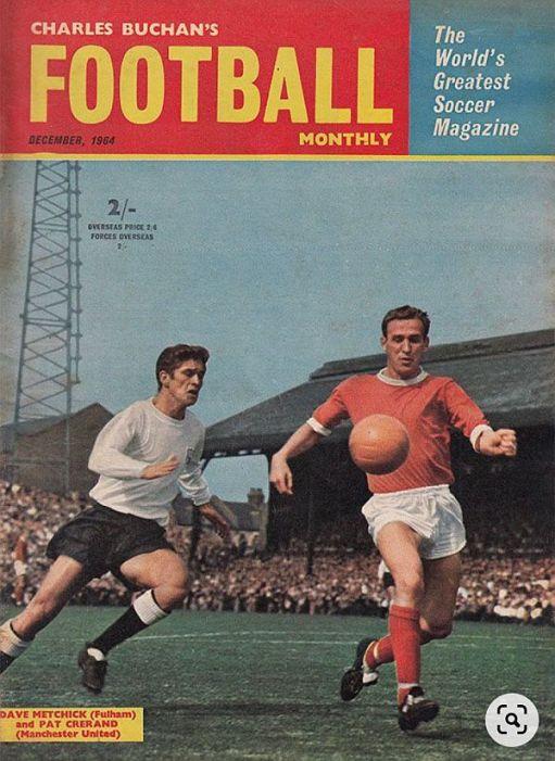 Fulham v Manchester Untied. Charles Buchan's magazine.