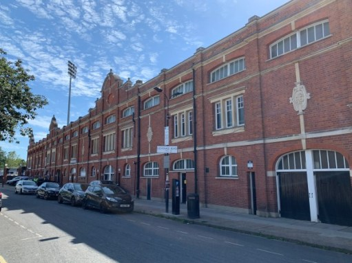 Exterior of Craven Cottage, Fulham's ground.