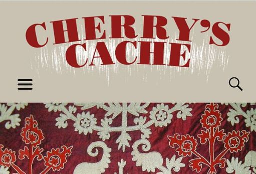 "Banner from ""Cherry's Cache"" blog."