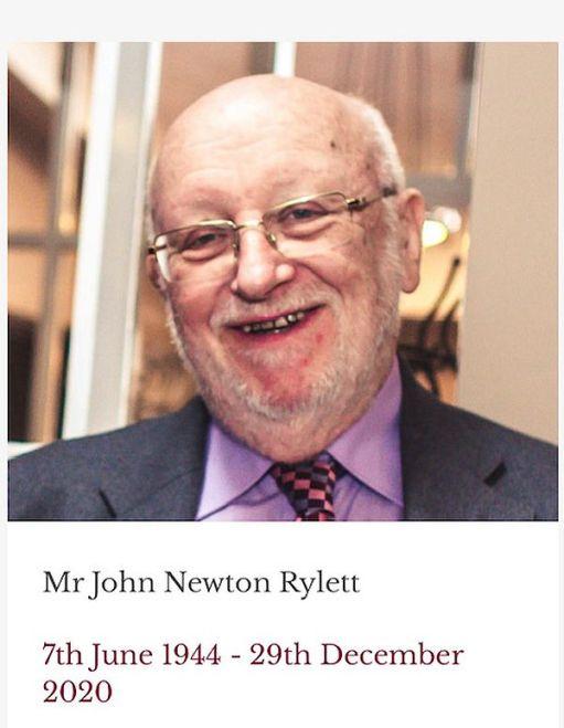 Mr John Newton Rylett: 7th June 1944 - 29 December 2020.