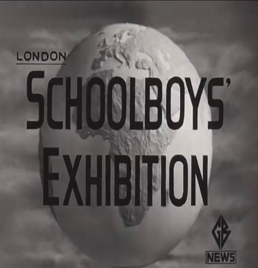 Opening picture from the Pathe News Schoolboys Exhibition.