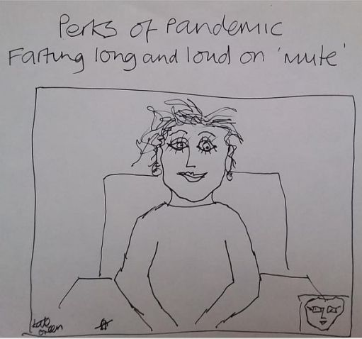 Perks of Pandemic - Farting long and loud on 'mute'.