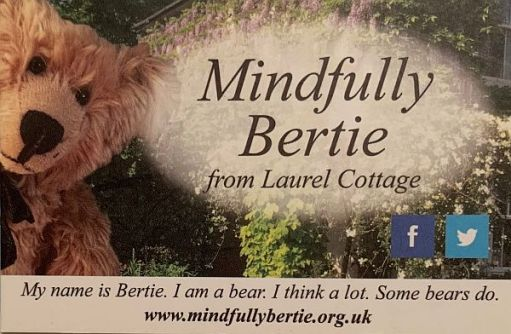 The Mindfully Bertie business card.