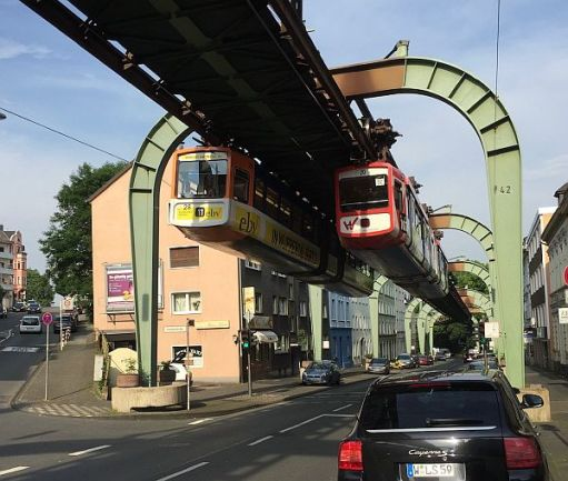 Wuppertal Schwebebahn. Probably our favourite railway. The world famous upside down railway.