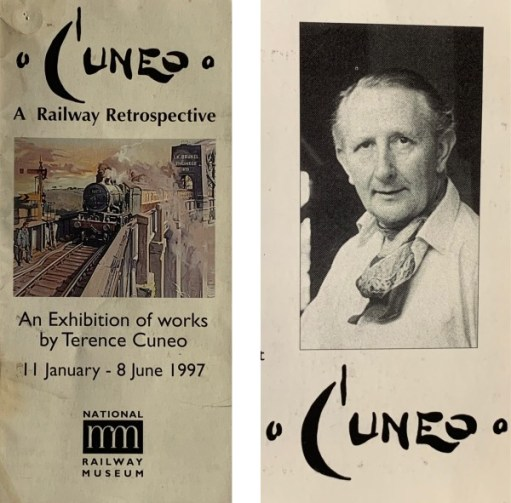 Leaflet advertising the exhibition of works by Terence Cuneo.