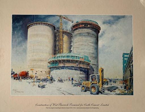 Construction of West Thurrock Terminal for Castle Cement Ltd.