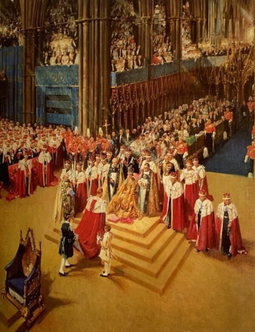 Cuneo painting of the Queen's Coronation.