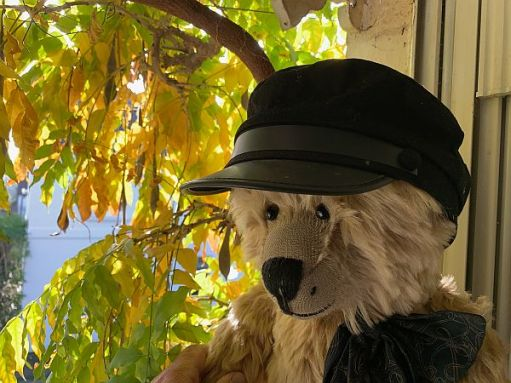 Bertie wearing his Steam Engine driver's 'at.