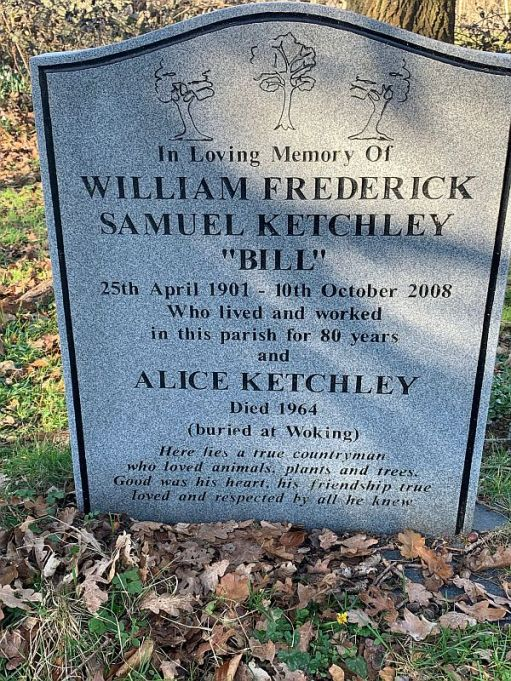 Gracestone of William Frederick Samuel Ketchley.