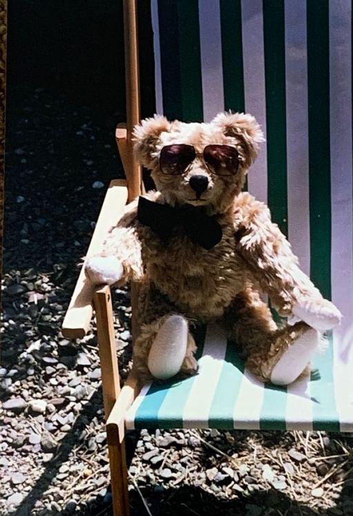 Bertie sat in a Deck Chair.