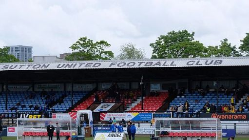 Sutton United ground an hour before kick-off.