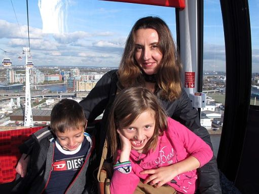 London Cable Car, 2014. With cousin Sonny.