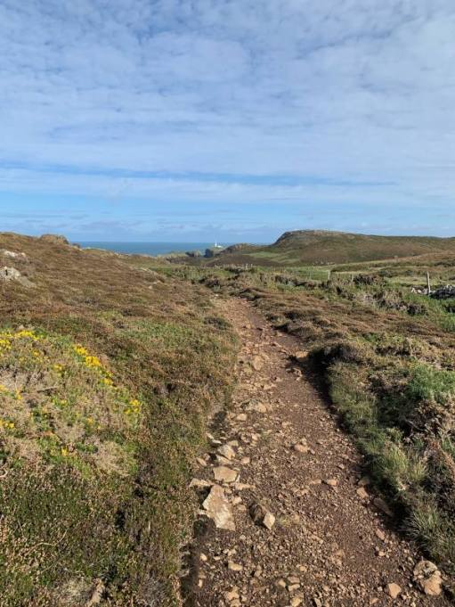 The path approaching Strumble Head.