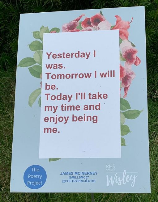 Yesterday I was. Tomorrow I will be. Today, I'll take my time and enjoy being me.