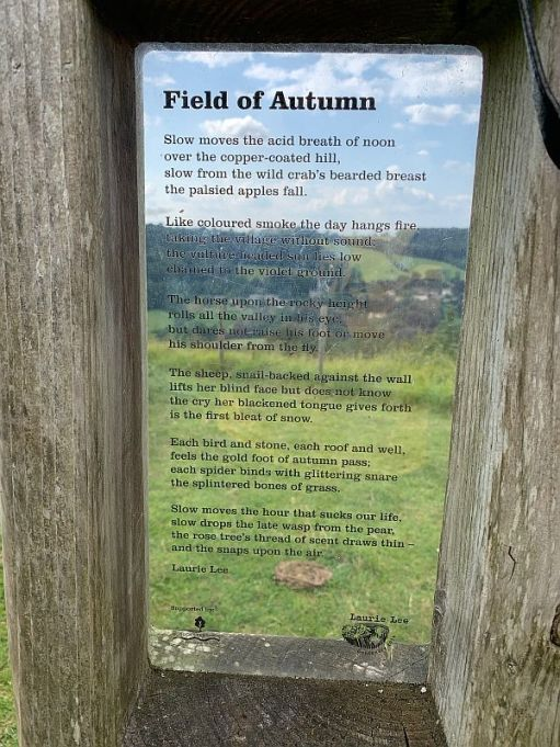 """The """"Field of Autumn"""" poem on the poetry post."""