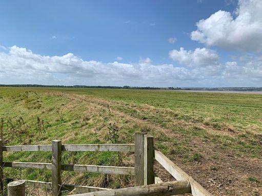 View across the Severn Estuary at Slimbridge.