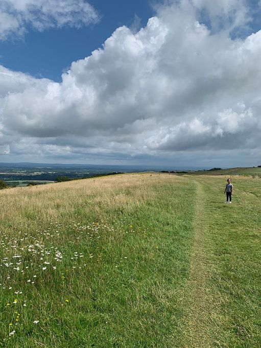 The South Downs Way on Ditchling Beacon.