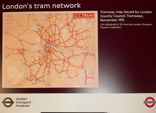 Tram networks, showing the gaps around posh areas.