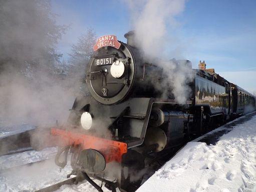 Santa Special in the snow, 2009.
