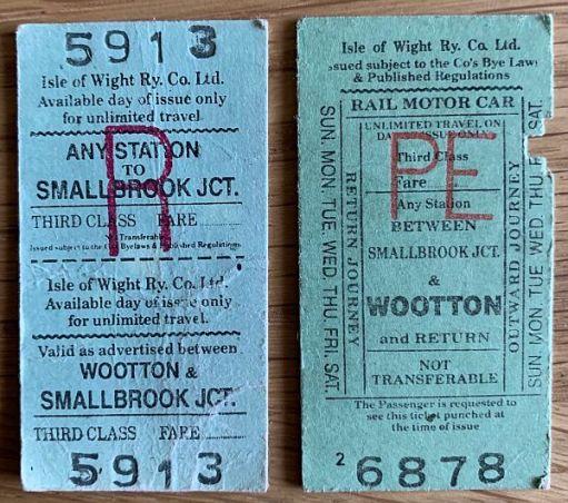 Isle of Wight Steam Railway tickets.