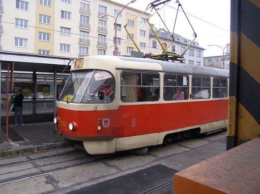 Bratislavian tram 7757.