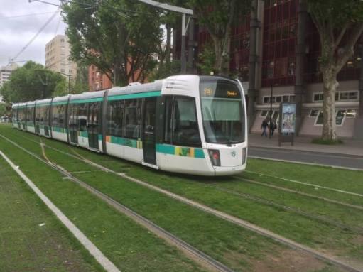 Paris tram.