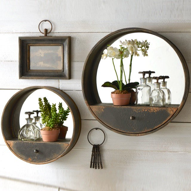 metal-wall-mirror-with-shelf-and-drawer