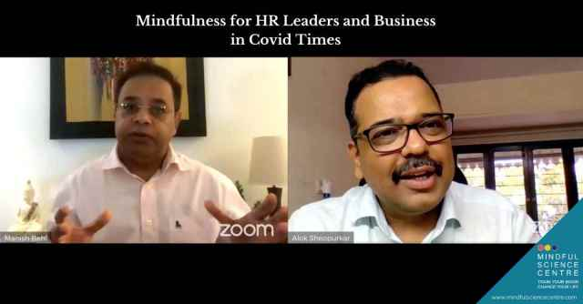 Mindfulness Conversations –  Mindfulness for HR Leaders and Business in COVID Times